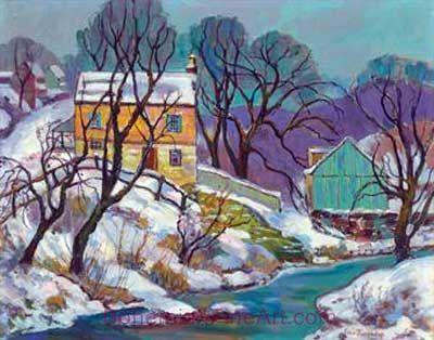 Fern I. Coppedge, Winter Scene Fine Art Reproduction Oil Painting