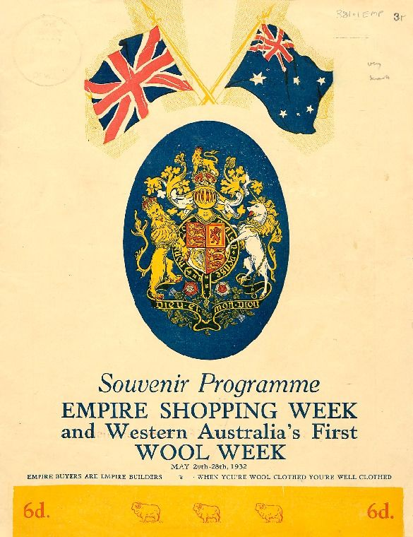 Empire Shopping Week and Western Australia's first Wool Week, May 20th-28th, 1932