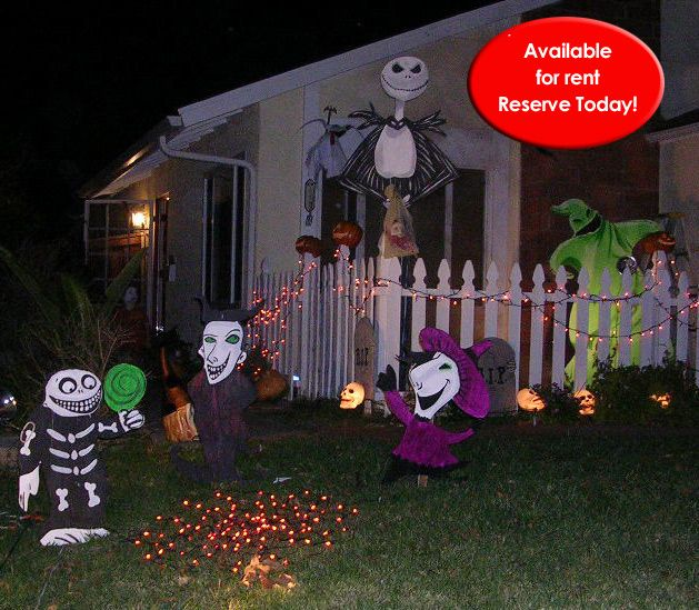 Holiday Wooden Cutout Lawn Decorations Halloween
