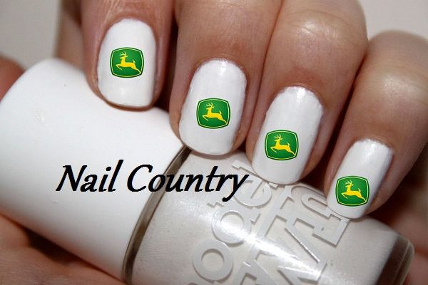 50pc John Deere Country Deer Country Gal Nail Decals Nail Art Nail Stickers Best Price NC142