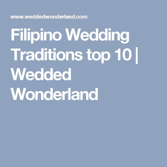 Filipino Wedding Traditions Top 10