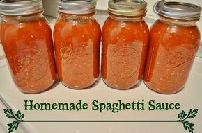 How to Make Homemade Spaghetti Sauce Canning Recipe Tutorial