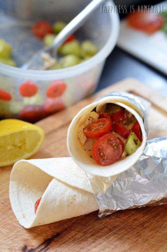 arabic style breakfast tortilla