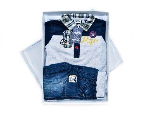 Mignolo – Σετ Τζιν & Μπλούζα – Φυσικό Βαμβάκι      Σετ τζιν και μπλούζα για μωρά αγόρια.     Σύνθεση: 100% Φυσικό Βαμβάκι.     Μάρκα: MIGNOLO     Προέλευση: ΙΤΑΛΙΑ