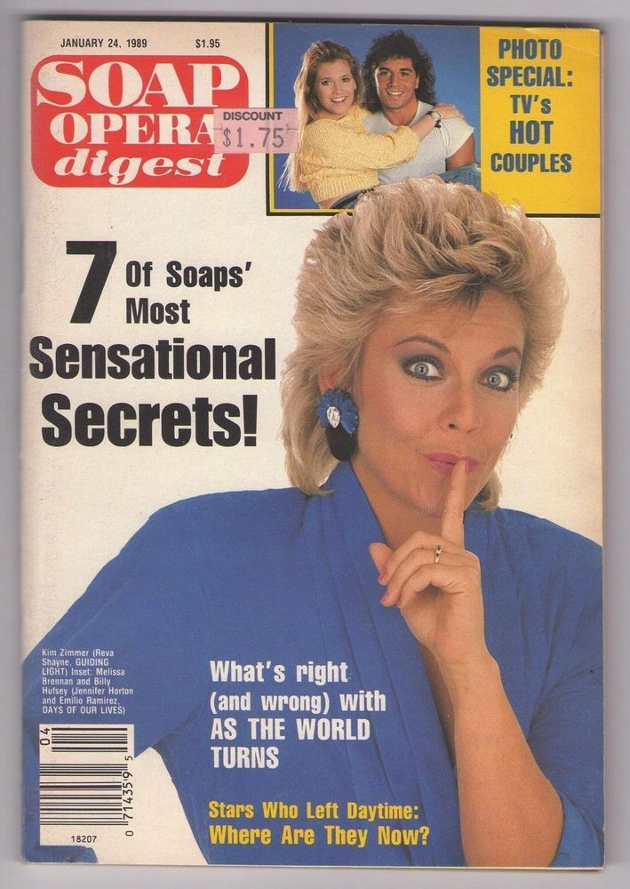 Soap Opera Digest January 24 1989 Kim Zimmer Brenda Brock Frank Runyeon www.grammysbargains.com Please click for details. Lots more issues available