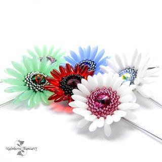 www.polandhandmade.pl #polandhandmade , #beading , #flower