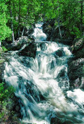 Hiawatha Park Waterfall  A waterfall in Hiawatha Park, Sault Ste. Marie, Ontario, Canada. © Melissa Connors Photography