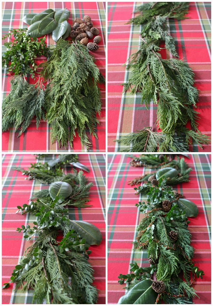 Diy Evergreen Table Runner Centerpiece The Easy Way Diy Christmas Table Christmas Table Runner Christmas Table Decorations
