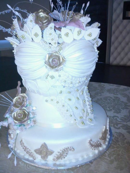 Baby Shower Cakes Durban ~ Classy sexy corsette wedding cake exclusive to bread