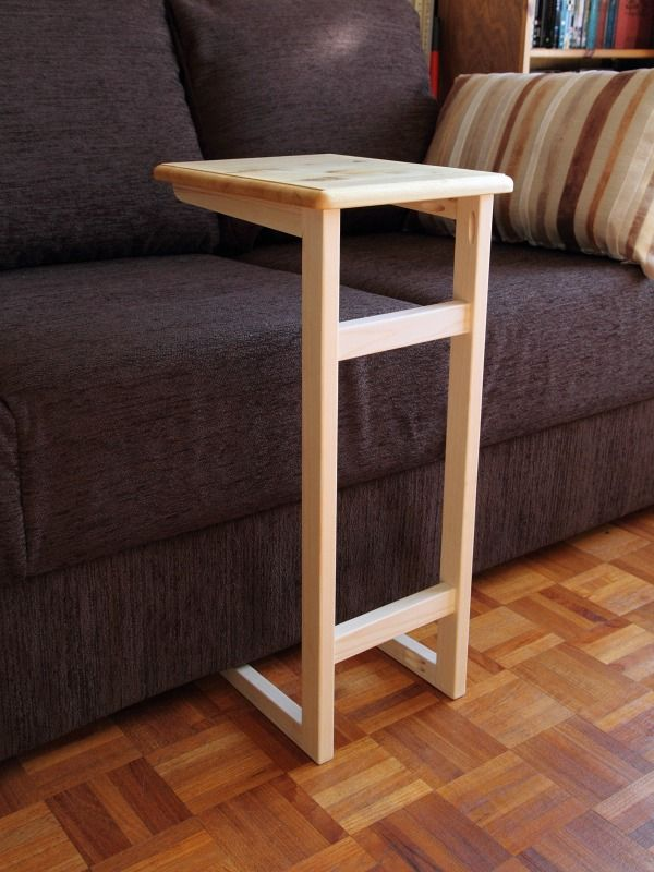 Click to see a larger picture of couch table woodworking for Sofa side table