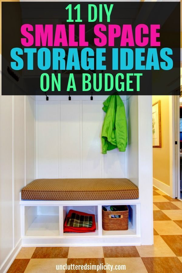 Charmant DIY Small Space Storage Ideas On A Budget Save Money And Get Organized With  These Simple Diy Ways To Organize Your Small Space