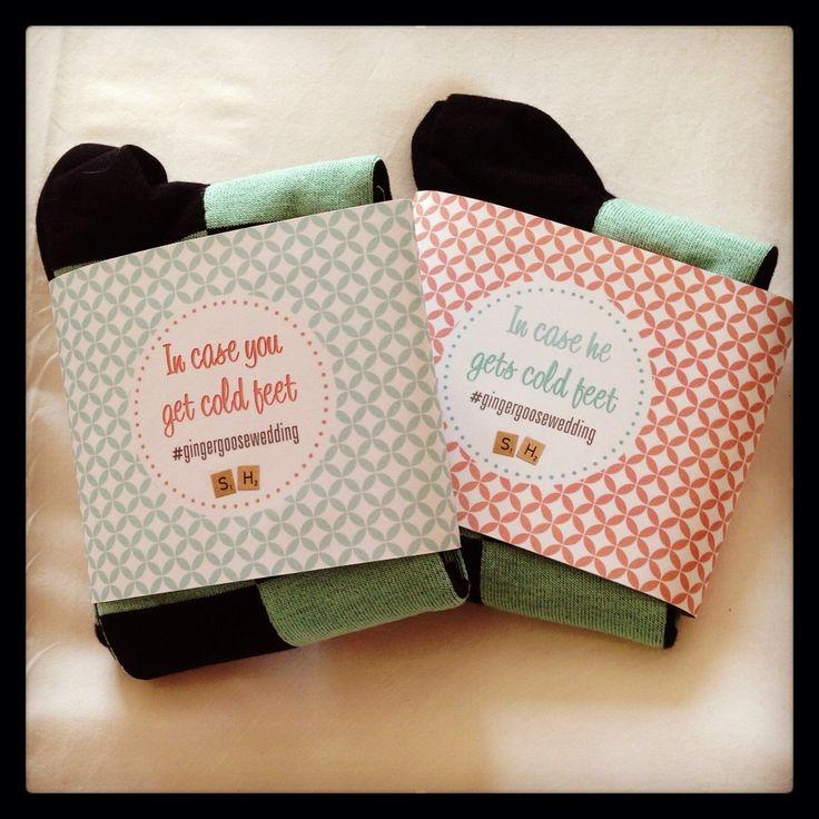 labels for the groomsmen gifts (socks) #gingergoosewedding ...