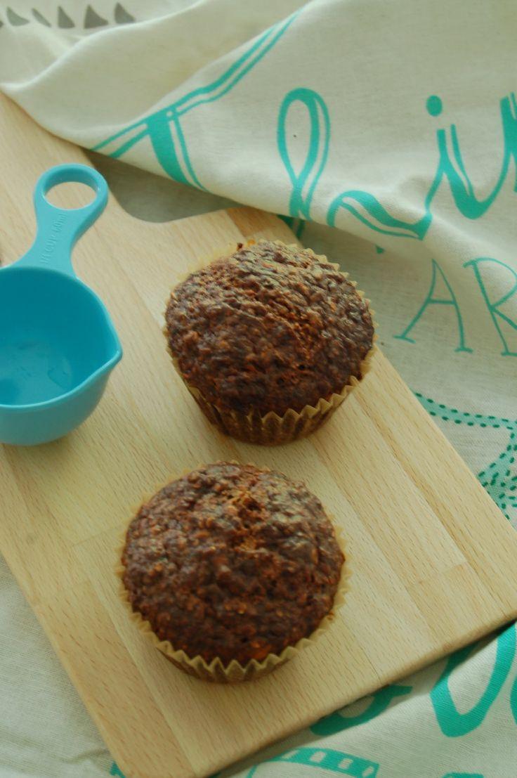 Ik liet me inspireren door een aantal recepten en maakte gisteravond deze skinny muffins met Griekse yoghurt en banaan. Het was even spannend maar wat zijn ze goed gelukt!