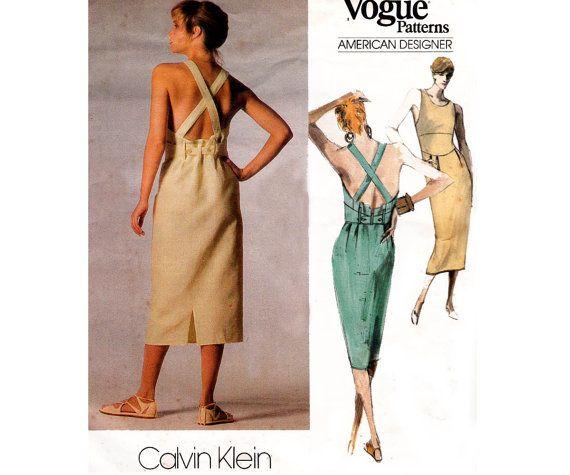80s Calvin Klein Drop Waist Backless Dress by allthepreciousthings, $26.00