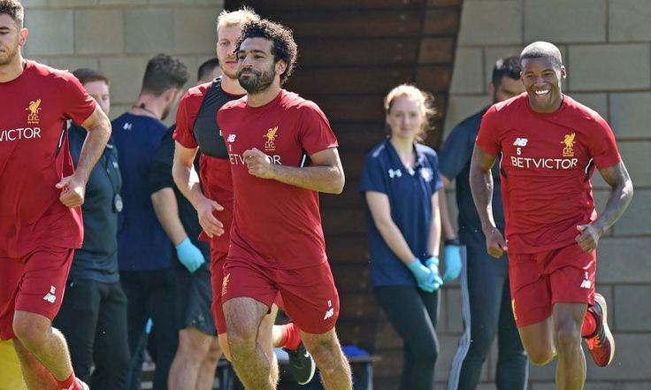 Gallery: Mohamed Salah's first Melwood session - Liverpool FC