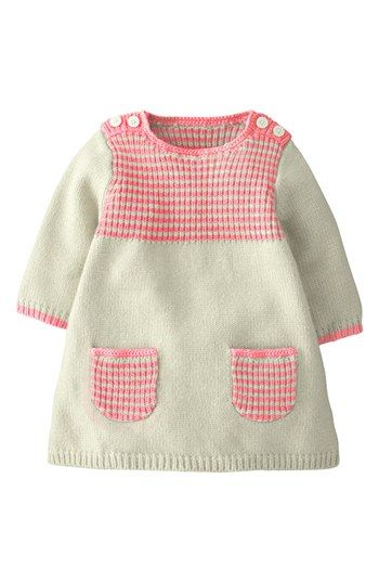 Mini Boden 'Stripey' Knit Dress (Baby Girls) | Nordstrom