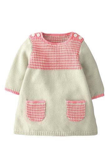 Mini Boden 'Stripey' Knit Dress (Baby Girls) | Nordstrom