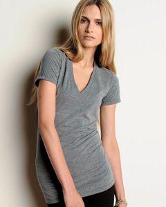 8435 Bella Ladies' 4 oz. Tri-Blend Deep V-Neck | Blank Shirt - Wholesale t shirt - American Apparel - Blank T Shirts - Organic T - Blank Tee...