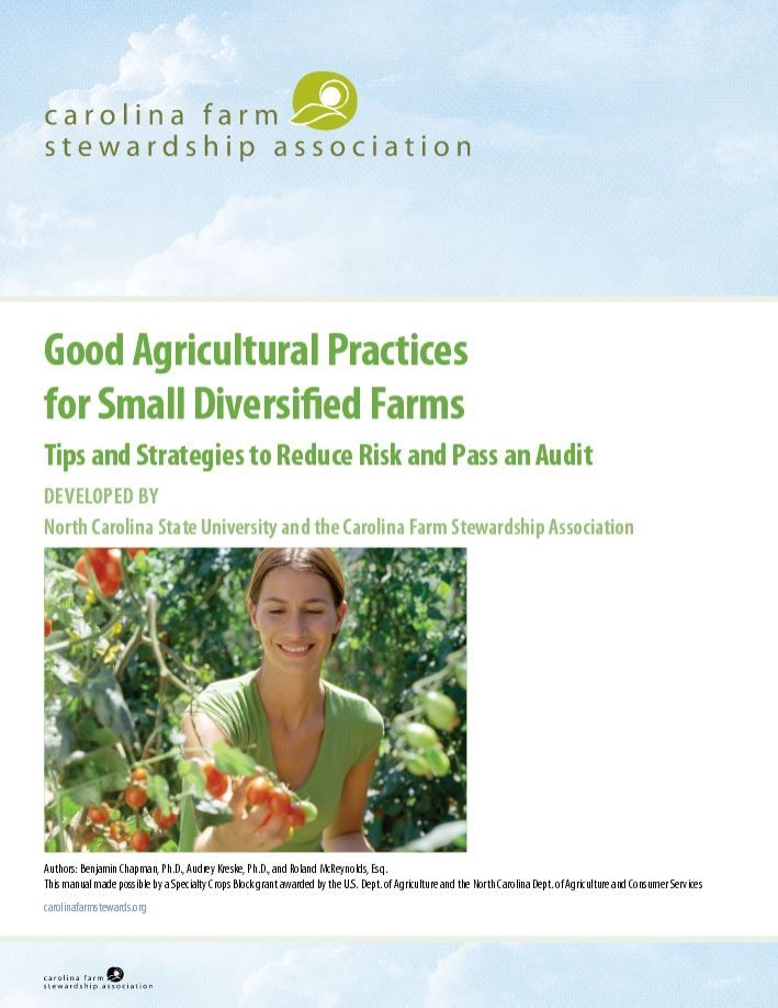 Good Agricultural Practices for Small Diversified Farms