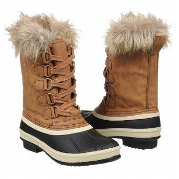 Tan womens snow boots