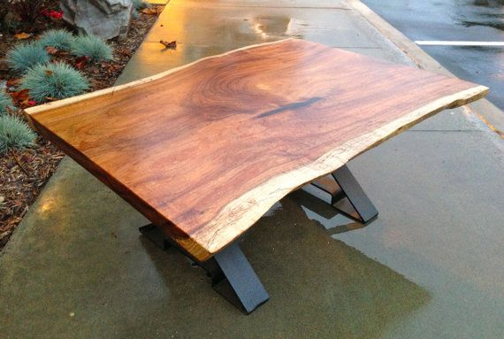 Exotic live edge tasmanian blackwood coffee table