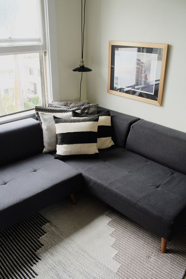 Small Space Solution: A Couch That Turns Into A Queen Size Bed! Tour This.  Tile PaintingSmall Space LivingSmall SpacesLiving Room DecorQueen ...