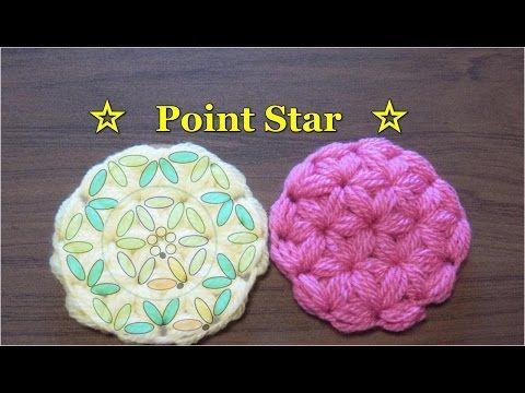 かぎ編み Crochet Japan : ポイントスターの円編み【かぎ針編みのコースター】                                                                                                                                                                                 もっと見る