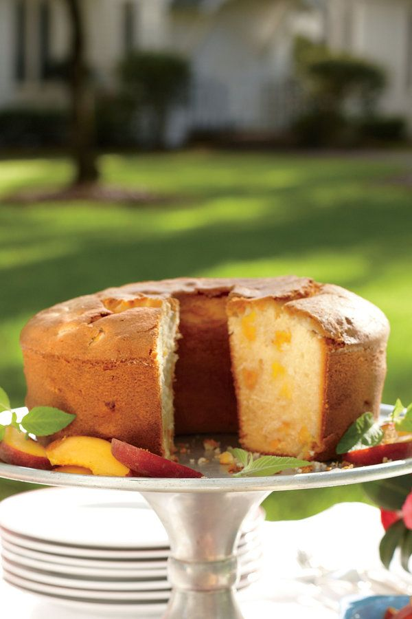 Classic Church Supper Recipes: Two-Step Fresh Peach Pound Cake