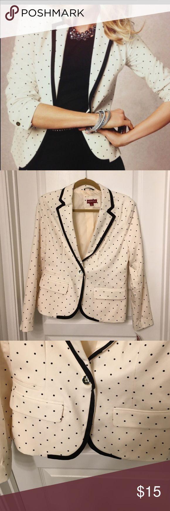New Merona Polka Dot Blazer New Merona Polka Dot Blazer Merona Jackets & Coats Blazers