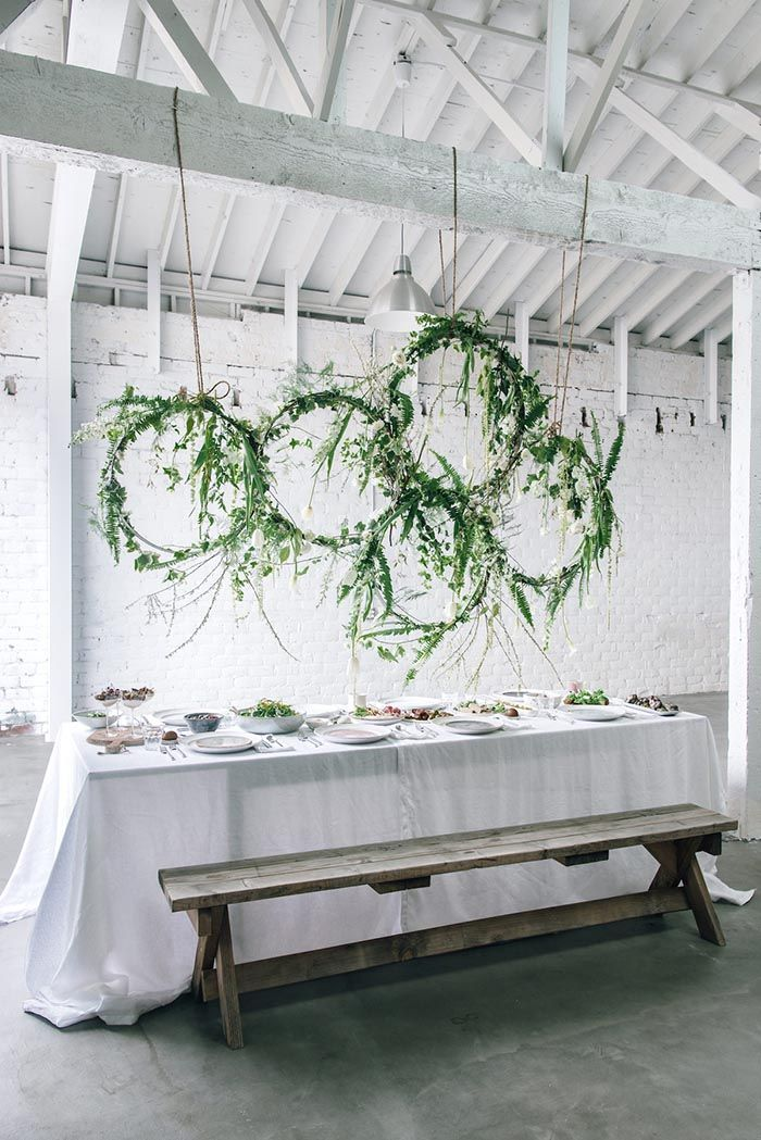 DIY Hanging Floral Installations from Anne Sage's Spring Brunch - summer party diy