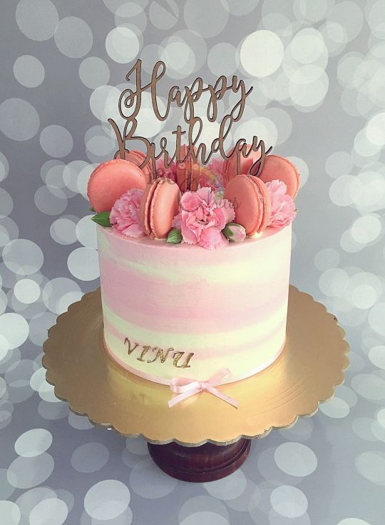 Cake Decorating Buttercream Birthday : Best 25+ 18th birthday cake ideas on Pinterest Pink rose ...