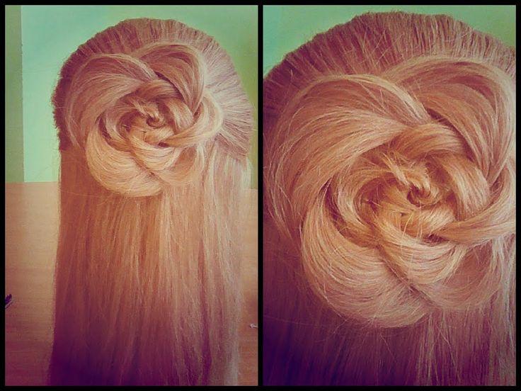 Цветок из волос. Видео-урок.