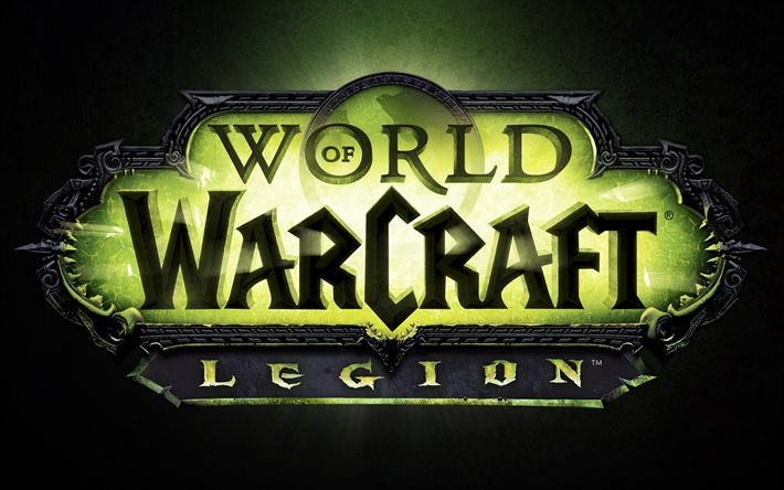 Download wallpapers World of Warcraft Legion, 4k, logo, WoW, World of Warcraft, WoWL
