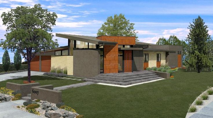Mid century modern house plans bedrooms 4 full for Modern house 49