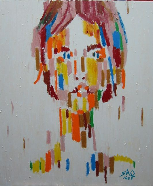 오상훈 Sanghoon Oh, 여인 16041 A Women 16041, 73x61cm, Oil stick on canvas