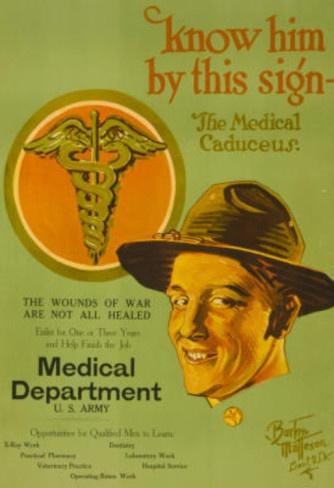 Medical Department US Army War Propaganda Vintage Ad.