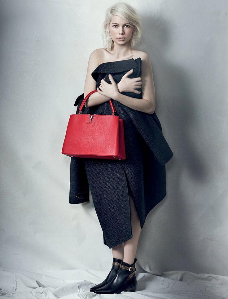Michelle models the new colors of Louis Vuitton's Capucines bag