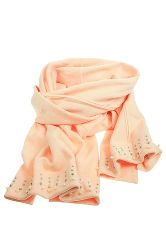 Nordic Rose Cotton Scarf With Pearl Detailing - White Apple Gifts