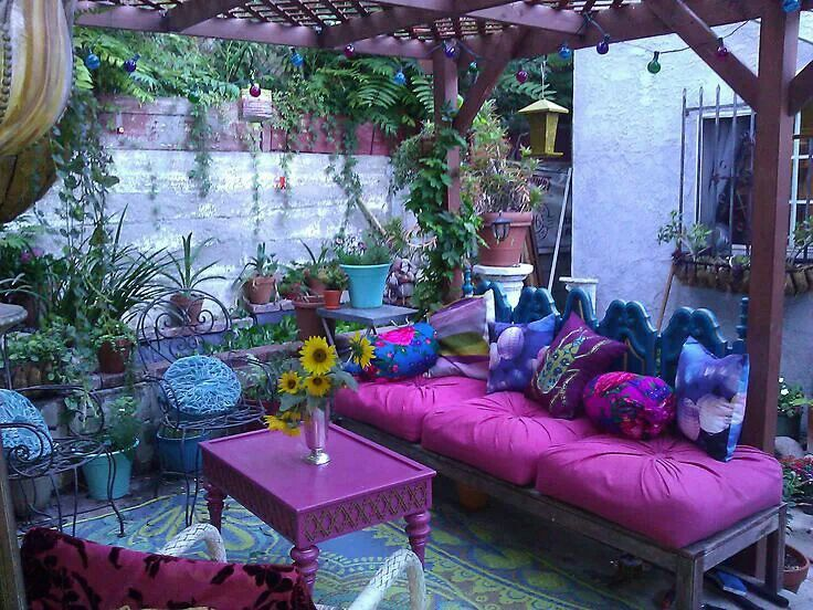 Bohemian Patio For The Nest Pinterest