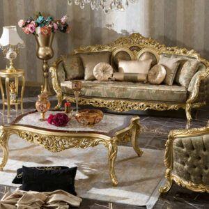 kursi mewah ruang tamu olimpos gold | indofurnia | ruang