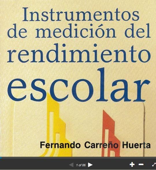 Rendimiento Escolar - Instrumentos de Medición | #Presentación #Educación