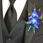 Dendrobium #Boutonniere Price: $9.98 Double blue dendrobium with greens.