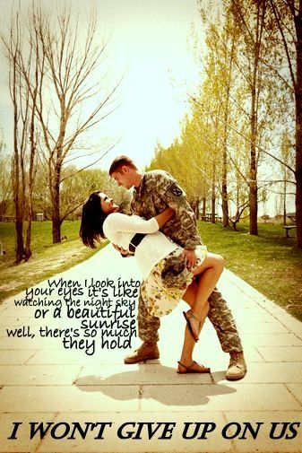 I wont give up on us  Jason Mraz // military quotes // navy // marines // air force //army My Creations That I Love | military surplus supplies army