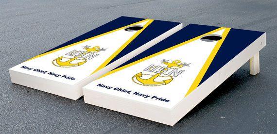 Us Navy Chief Petty Officer Cornhole Set by DesignerCornhole, $159.99