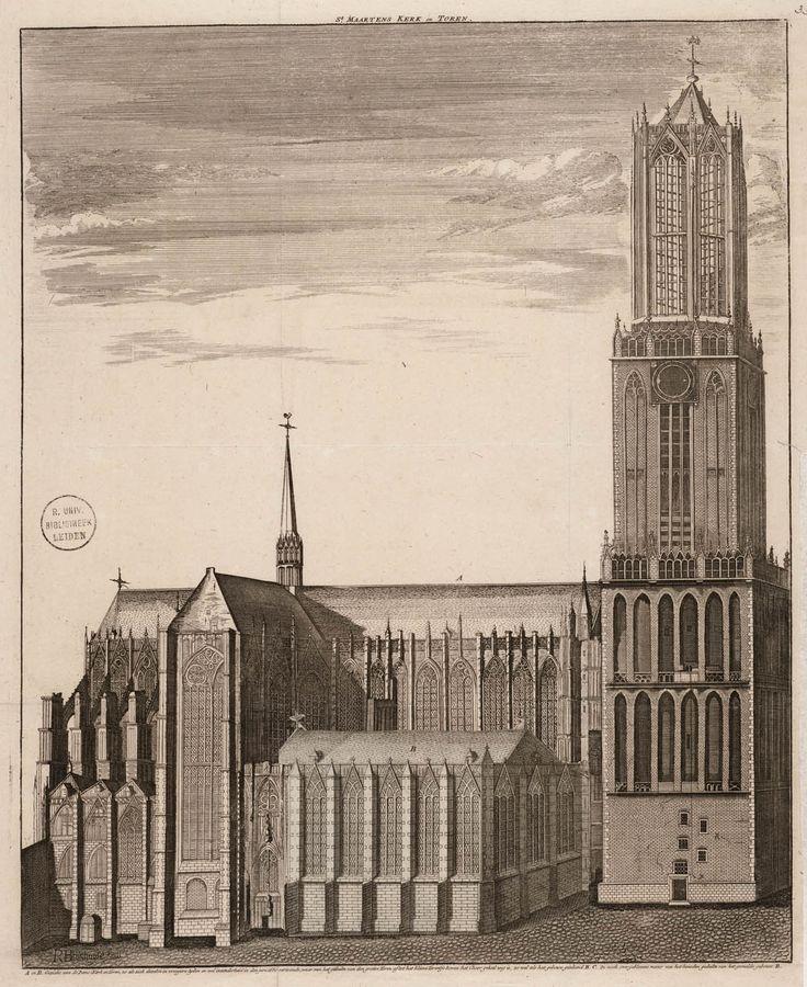St. Maartens Kerk en Toren (Domkerk), 1720. Domkerk in Utrecht is gebouwd naar Keuls en indirect naar Frans voorbeeld.