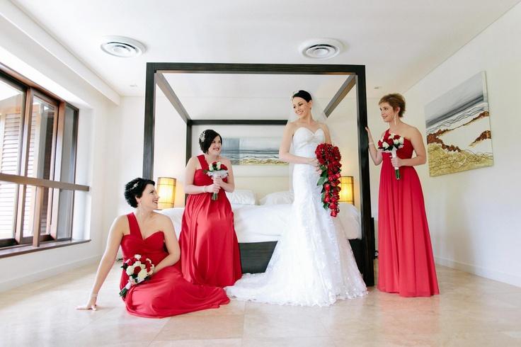 Port Douglas Wedding Makeup by Cairns wedding makeup artist Abigail Stanbridge of Finesse Makeup...love the red theme: Makeup Artists, Wedding Ideas, Artist Abigail, Wedding Makeup, Bride