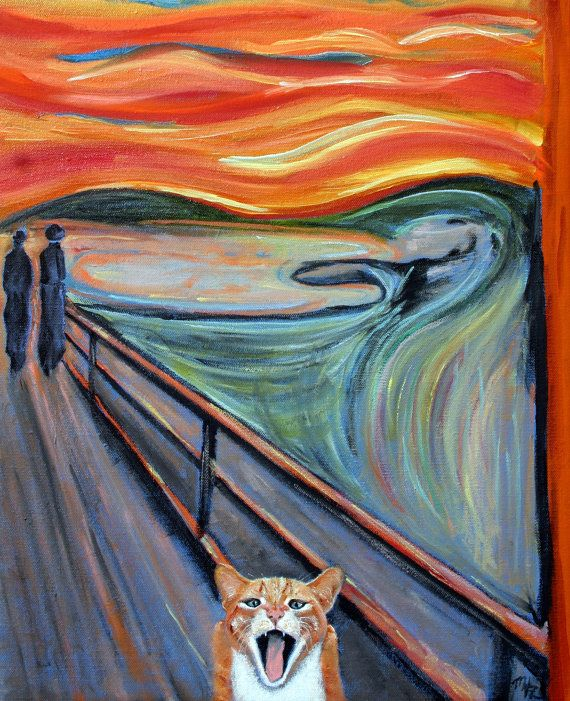 Tabby Cat Art Print Quot The Scream Quot A Parody Of The
