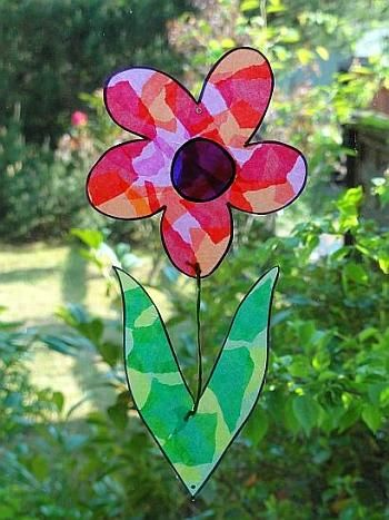 Colorful Flower Window Decoration