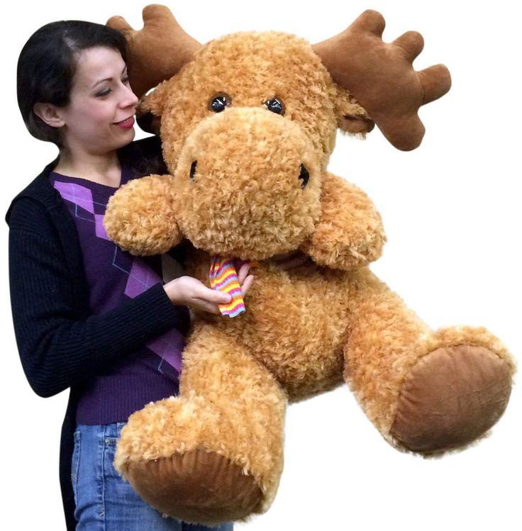big plush personalized giant teddy bears and custom large stuffed animals big plush moose 36. Black Bedroom Furniture Sets. Home Design Ideas