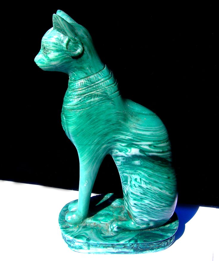 Image result for Malachite bastet statue